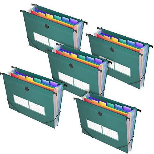 Semoic Carpeta de Archivos Expandible Organizador de Archivos Accordian, Caja de Archivos de PláStico en AcordeóN Organizador de Documentos Rainbow