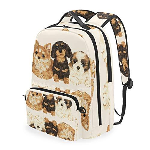 Camping Daypack Bookbag Multi Function Shoulder Bag Upside Down Dog Casual Backpack