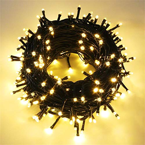 Extendable 82FT 200 LED Christmas String Lights Outdoor/Indoor, Waterproof Christmas Tree Lights with 8 Modes Fairy Twinkle Lights for Party, Wedding, Patio, Garden, Home (Warm White)