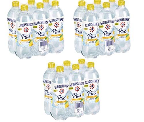 18 Flaschen Gerolsteiner Plus Zitrone + Mineralwasser a 750ml PET inc. 4,50€ EINWEG Flasche