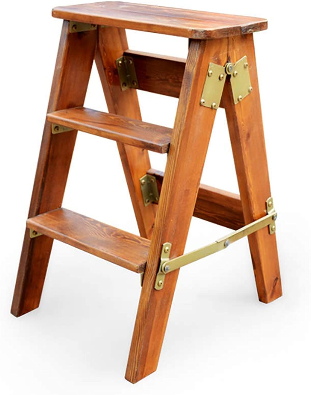 SEBAS HOME Solid wood wood wood folding step stool kitchen ...