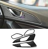 QQSGBD Accesorios For El Coche De Fibra De Carbono Pegatina Vidrio De La Puerta Interior Pegatina Pegatinas De Ajuste For Mazda Axela 3 2014 2015 2016 2017 2018 W11