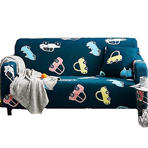 wersdf Fundas Sofa Elastica Fundas para Sofa Fundas de sofá de Terciopelo triturado Estirar sofá Cubre Sofá de Terciopelo Cubre Sofá Cubierta de Cama 90-140,Navy Blue