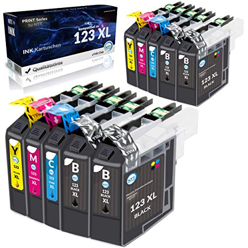 NTT 10 XL Druckerpatronen als Ersatz für LC123 XL kompatibel mit Brother DCP-J4110DW MFC-J6520DW MFC-J4410DW MFC-J4510DW MFC-J470DW MFC-J650DW MFC-J6920DW MFC-J6720DW MFC-J4610DW MFC-J870DW DCP-J132W