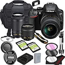 Nikon D3500 DSLR Camera Bundle with 18-55mm VR + 70-300mm Lenses | Built-in Bluetooth |24.2 MP CMOS Sensor | |EXPEED 4 Image Processor and Full HD Videos + 64GB Memory(17pcs)