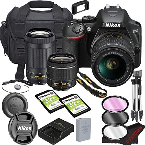 Nikon D3500 DSLR Camera Bundle with 18-55mm VR + 70-300mm Lenses | Built-in Wi-Fi|24.2 MP CMOS...