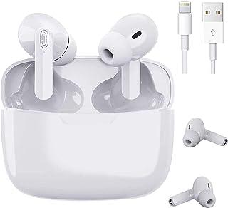 Auriculares Bluetooth, Auriculares inalámbricos,Auriculares Inalámbricos Bluetooth 5.1 en la Oreja con Caja de Carga, Micr...
