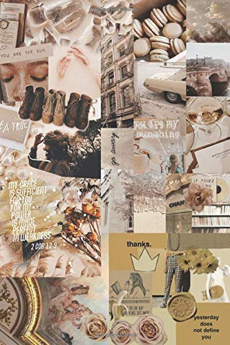 Yesterday Does Not Define You Quote Collage Notebook: : Vintage Aesthetic Themed Lined 120 Page Notebook