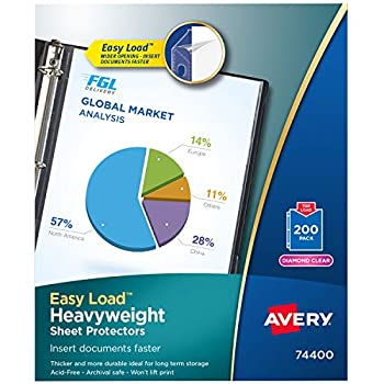 avery clear sheet protectors