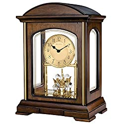 Bulova B1846 Westport Strike & Chime Mantel Clock, Brown Cherry