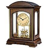 Bulova B1846 Westport Strike & Chime Mantel - Reloj de Pared, Color marrón
