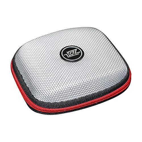 Alsu3luy02Ld Sac de Rangement pour câbles d'écouteurs Carré Fermeture Éclair Noir, Silver (Argenté) - alsu3luy02Ld_Travel Toiletry Bag