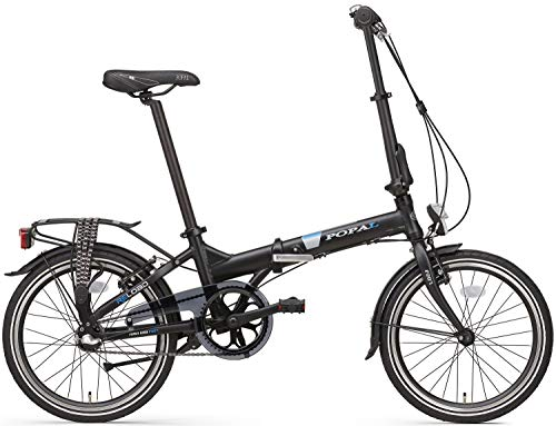 Folding Bike Folding PoPAL Reload 20 inch aluminium frame met Shimano Gear 3 mat zwart