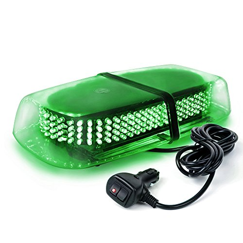 Xprite Green 240 LED Rooftop Strobe Beacon Lights Flashing Mini Lightbar, Hazard Warning Caution Lights w/ Magnetic Base, for Emergency Vehicles Cars Trucks Snowplow