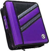 Case-it Z-Binder Two-in-One 1.5-Inch D-Ring Zipper Binders, Purple, Z-176-PUR