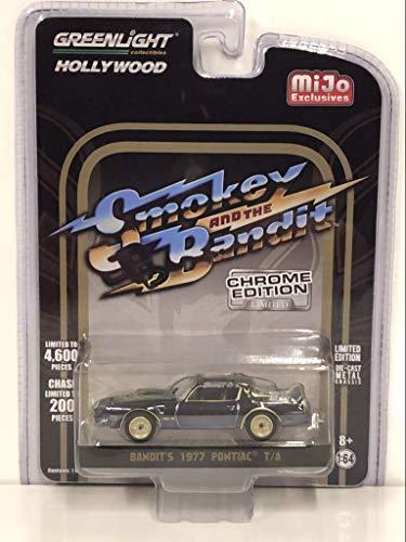 1977 Pontiac Firebird Trans Am (Bandit's) Black Chrome Smokey and The Bandit (1977) Movie Ltd Ed to 4,600 pcs 1/64 Diecast Car by Greenlight 51223