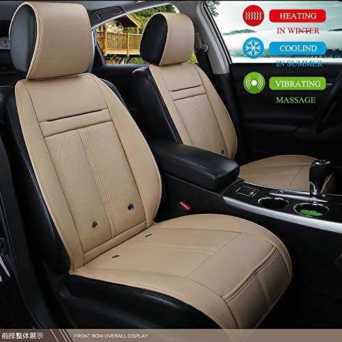 ZDer verwarmingskussen voor autostoel, DC 12 V/24 V, bekleding met koelfunctie, verwarming en massagefunctie (1 stuks)