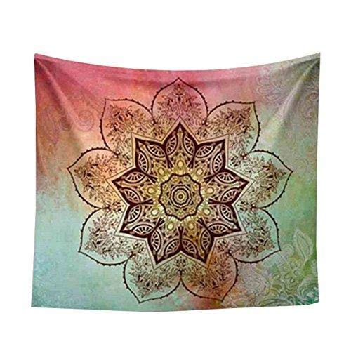 Depory 1x Mandala Wandbehang Indisch Psychedelic Wandteppich Polyester Wandtuch Hippie Mehrzweck als Tischdecke Strandtuch Picknick Decke für Meditation oder Ruhe 150 * 130cm