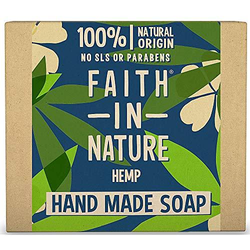 Faith In Nature Naturel Savon Main Chanvre Rafraîchissant sans Paraben/SLS 18 x 100 g 1 Unité