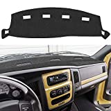EONLION Dash Cover Mat Compatible with Dodge Ram 2002-2005 1500 2500 3500, Custom Fit Dashboard Cover, Easy Installation(Ram 02-05, Black)