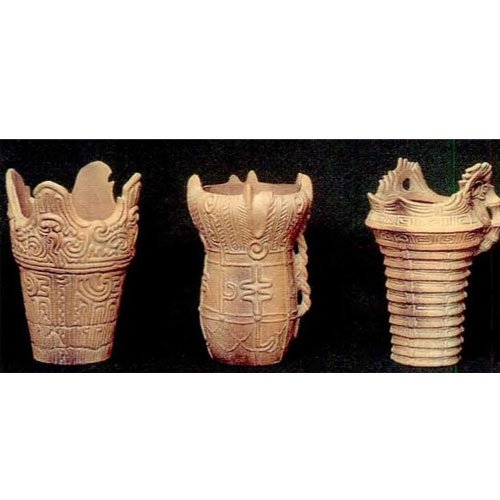 縄文式土器模型 3点セット B01-5036
