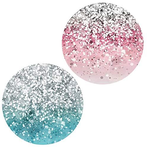 Ganzhikun - 2 da Confezione Supporto Telefonico per Smartphone e Tablet - Glitter Blu Oro Rosa