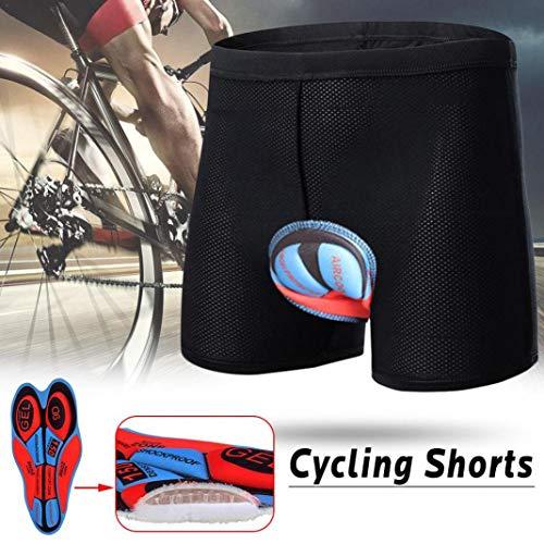 YSHTAN Short de cyclisme en silicone rembourré résistant aux chocs Noir XXXL