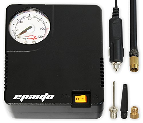 EPAuto 12V DC Auto Portable Air Compressor Pump/Tire Inflator for Compact/Midsize Sedan SUV
