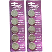 Loopacell 2450 3V Lithium Battery x 10 Batteries