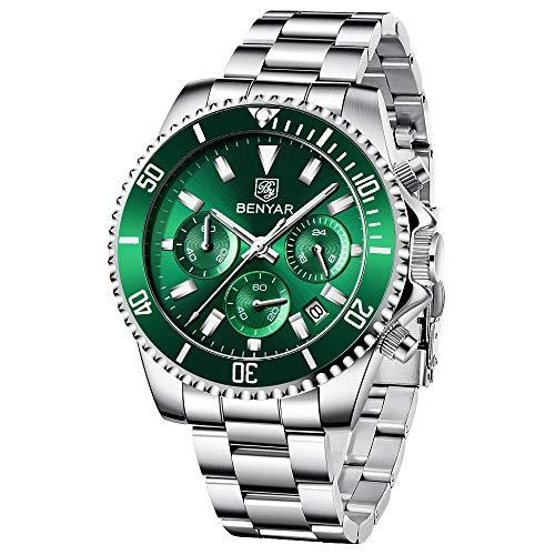 BY BENYAR orologio da uomo cronografo analogico impermeabile al quarzo orologio da uomo di design in acciaio inossidabile orologio da uomo moda casual