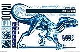 Trends International Jurassic World: Fallen Kingdom - Indo-Raptor Wall Poster, 22.375' x 34', Unframed Version