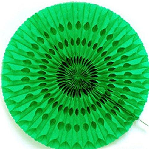 Cotillon d'alsace - Éventail alvéolé vert 50 cm