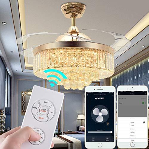 QIACHIP Ceiling Fan Remote Control Kit,WI-FI Smart Universal Ceil   ing Fan with Amazon Alexa