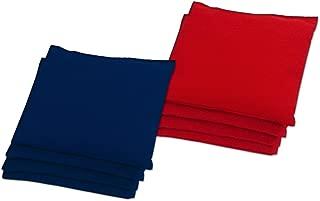 BAGGO Classic Red/Navy Bean Bag Toss Bags 9.5 oz (Set of 8)