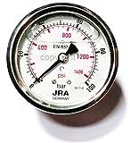JRA-Longlife Manómetro de glicerina 0-100 bar Conexión diámetro 63, centrada en la parte trasera G1/4'