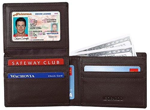 Top spezifische RFID-blockierender Geldbörse Leder + Stop spezifische RFID-blockierender Herren Leder Portemonnaie Stop Electronic Pick pocketing