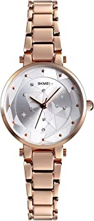 SKMEI Women Watch Fashion Casual Quartz Watch Modern Waterproof Analog Wristwatch With Rhinestone