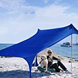 Sibosen Beach Tent Sun Shade Shelter for 4-5 Person with UV Protection, Pop Up Family Beach Sunshade...