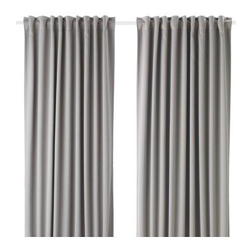 Unbekannt IKEA MAJGULL 2 Gardinenschals in grau; verdunkelt; (145x300cm)