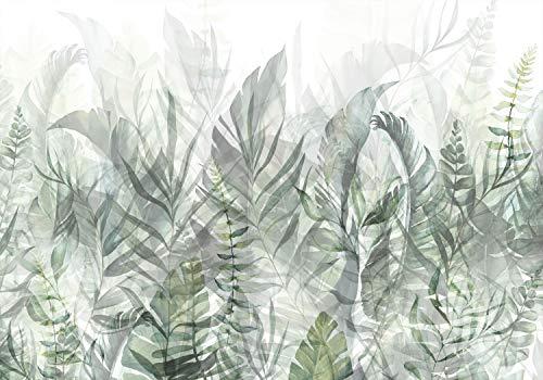 decomonkey | Papier peint intissé Plantes 350x256 cm Trompe l oeil | Déco Mural Tableaux Muraux Photo Nature Feuilles