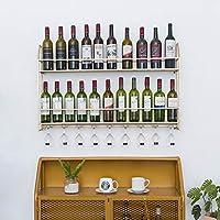 ワインラック、壁掛け金属ボトルスタンド、ガラス吊りラックホルダー、バーレストラン用 (色 : B3)