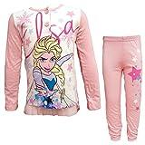 Disney Pigiama Bambina Lungo in Cotone Jersey Frozen Art. WD22940 (Rosa Pastello, 8 Anni)