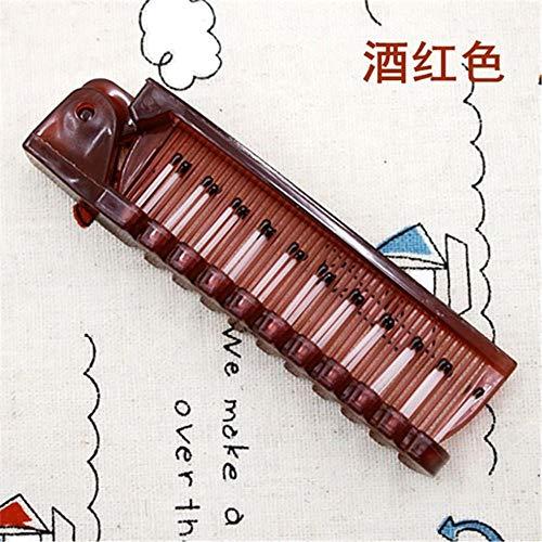 LJK Voyage Cheveux Peigne Brosse Pliable Massage Cheveux Peigne Anti-Statique Styling Kits Pliant Cheveux Peignes Coiffure, vin Rouge