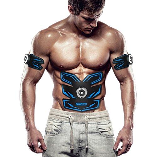 Cinturones masaje Tónico muscular, Abs Trainer EMS Cinturón de tonificación abdominal para...