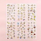 BLOUR 6 unids/Set Lindo Mini Gato de Dibujos Animados Pegatina para Mascotas Escolar DIY Scrapbooking Etiqueta Adhesiva papelería Regalo para Estudiantes útiles Escolares