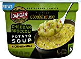 Idahoan Steakhouse Cheddar Broccoli Potato Soup, Made with Gluten-Free 100-Percent Real Idaho Potatoes, 2.4 oz Bowl (Pack of 6)