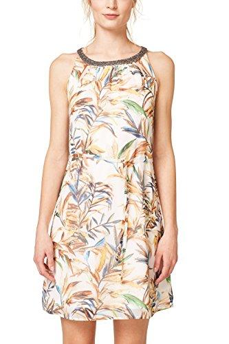 ESPRIT Collection Damen 048EO1E010 Kleid, Weiß (Off White 110), 40