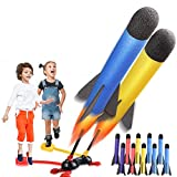 Great for Outdoor Toys with Friends, Rocket Launcher Toys for 4, 5, 6, 7, 8, 9, 10, 11 Years Old Boys/ Girls with 2 Launchers, Jump Rocket Set Toy Gifts for 3, 4, 5, 6, 7 Years Old Boys (10 Rockets)