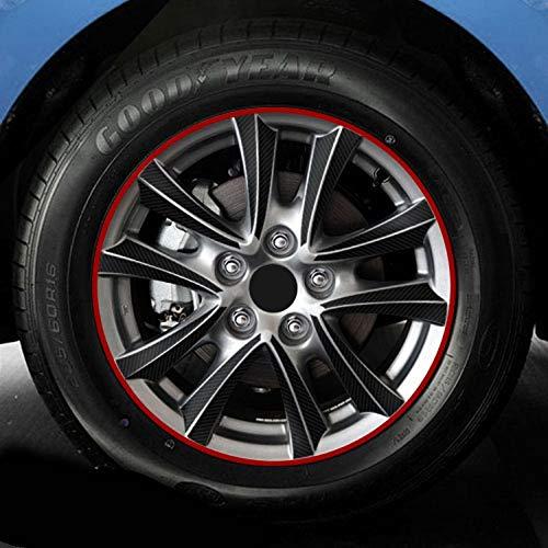SEHNL 16 18 Pulgadas de Fibra de Carbono 4 Ruedas de llanta Etiqueta de Ruedas Etiquetas engomadas Impermeables para Mazda 3 M3 Axela 2013 2015 2015 Decoración Externa Motocicleta Llantas