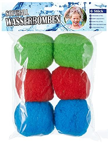Cepewa 6X Softball Wasserbomben wiederverwendbare Wasser Ball Wasserbälle rot blau grün draußen Sommer